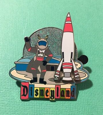 Disney Pin Disneyland Retro Marquee pin 50 Years Rocket to the Moon Rocket moves