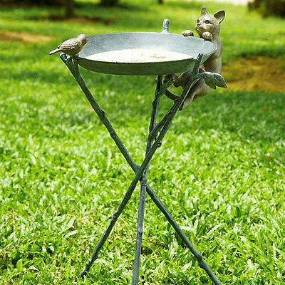 Curious Cat and Bird Birdbath by SPI Home/San Pacific International 33562