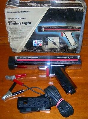 28-2134 Sears/ Craftmans Inductive Timing Light Chrome-Plated Linear Xenon Light