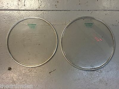 Ludwig Vintage 12in and 13in Weather Master Single Ply Clear Drum Heads