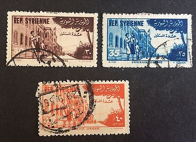 3 wonderful old used stamps Syria (04) / Syrie Republique Syrienne / سوريا