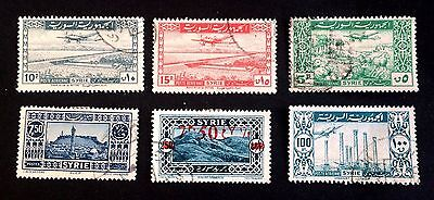 6 nice old used stamps Syria (03) / Syrie / سوريا