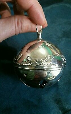 2002 wallace sterling silver sleigh bell christmas ornament