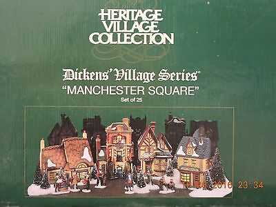"""Department 56 Dickens Village  """"manchester Square""""  Set Of 25"""