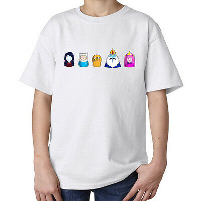 Adenture time miniature art Finn Jake Bubblegum funny kids unisex t shirt white