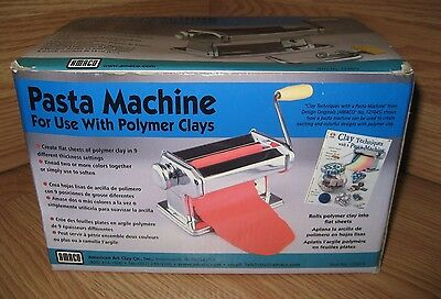 Amaco Pasta Machine For Use With Polymer Clays Model #12381S **READ**