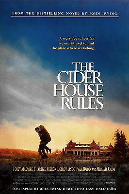 "THE CIDER HOUSE RULES Double Sided Original Movie Poster 27""x 40"""