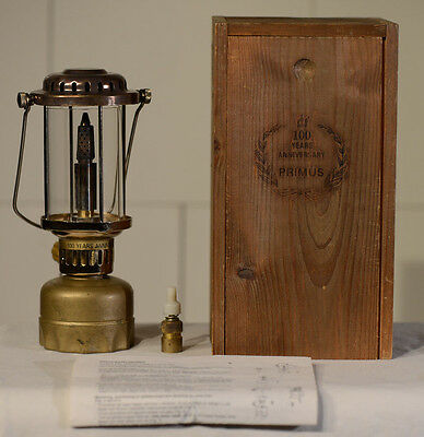 Primus 100 Years Anniversary Lantern Boxed and with Manual