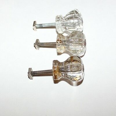 Vintage Clear Glass  Knobs Drawer Pulls