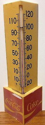 Vintage Coca Cola Coke Triangle Plastic Outdoor Thermometer