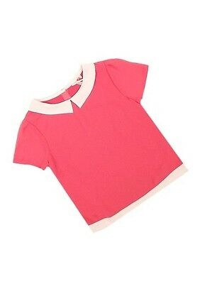 Girls Bnwot Chiffon Collared Top Ages 4 To 13 Yrs Pink Blue & Green