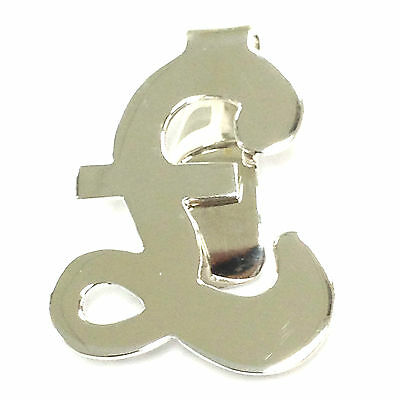 Antique Style Pound Sign Money Clip Enamel 925 Solid Sterling Silver Hallmarked