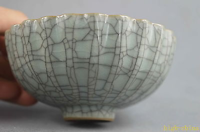 Collectable Handwork Porcelain Carve Gloosy Royal Natural Texture Lucky Bowl