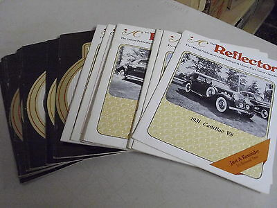 Lot Of 17 Vintage The Reflector Antique Classic Car Booklets Or Magizines