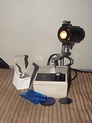 OLYMPUS (?) microscope 4 setting variable intensity power supply & light source