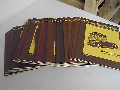 Lot Of 31 Vintage The Reflector Antique Classic Car Booklets Or Magizines