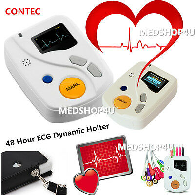 TLC6000 Dynamic ECG Holter systems 48 Hours EKG Recorder/Analyzer+Free software
