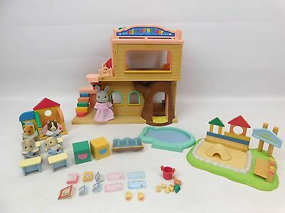 Sylvanian Families Primrose Nursery Deluxe Set With 5 Figures And Accessories