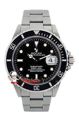 Rolex Submariner Date 16610 40mm Black Dial Oyster Perpetual for Men