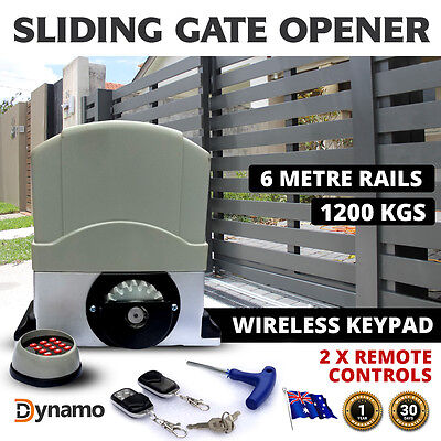 Automatic Sliding Electric Gate Opener 1200KG 6 Meter Remotes Powerful Motor Kit