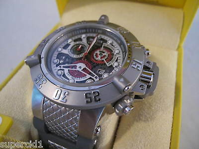 Invicta Subaqua Skeleton Chronograph Groß Neu TOP