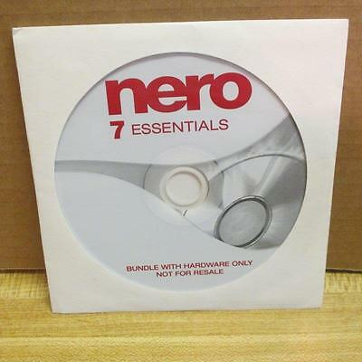 Nero 7 Essentials software 7 available