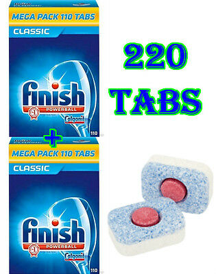 Finish Powerball Classic 110 Tabs X2 Pack Multi Buy Dishwasher Tablets Cleaning