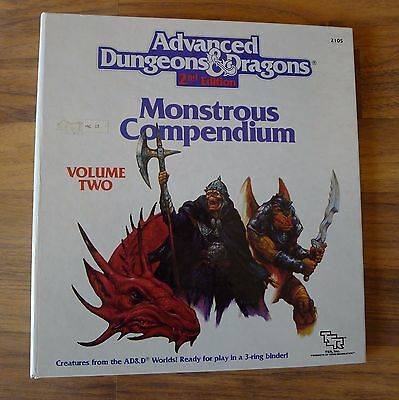 Advanced Dungeons & Dragons 2nd Edition Monstrous Compendium Volume Two