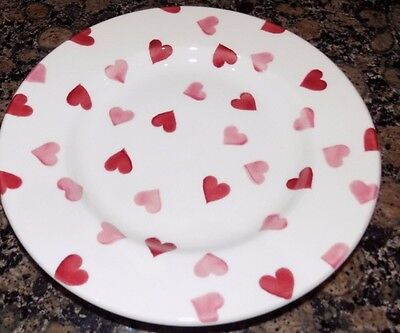 "emma bridgewater  PINK HEARTS SALAD PLATE 8.5""  FIRST QUALITY"
