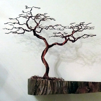 Gift - Handmade and Unique Wire Tree Sculpture (34cm high) - Christmas Birthday