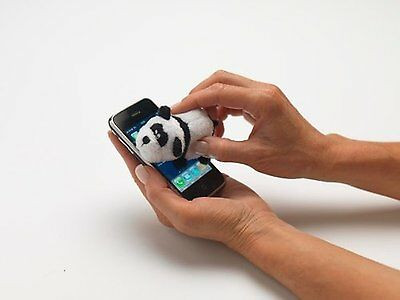 Dusty Pups Cute Panda iPhone iPod iPad Smart Phone Microfibre Screen Cleaner NEW