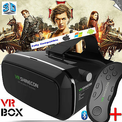 VR HEADSET - V3.0 3D Virtual Reality Glasses + FREE Bluetooth REMOTE - SHINECON