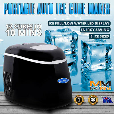 NEW MaxMate Countertop Ice Cube Maker Machine Commercial  Fast 3 Sizes 150W LED