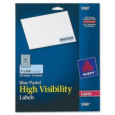 Avery High-Visibility Laser Printable Labels (5980)