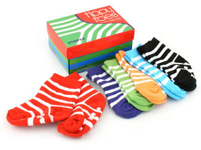 NEW Tippy Toes Stripes Sock Set 6pce