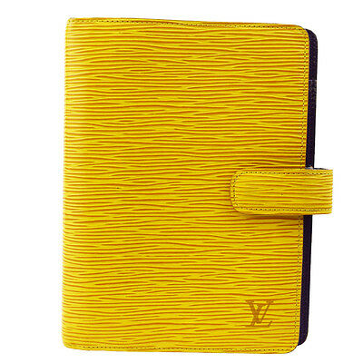 Authentic LOUIS VUITTON Agenda MM Notebook Cover Epi Leather YW R20049 04G852