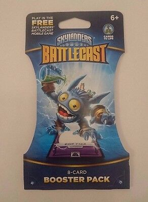 NEW Skylanders Battlecast Pop Fizz 8 Card Booster Pack  Cards To Life New Sealed