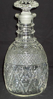 "Imperial CAPE COD CRYSTAL *10"" DECANTER w/STOPPER*160/163"
