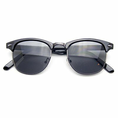 Semi Rimless Sunglasses Men's Women's Half Frame Vintage Designer Metal