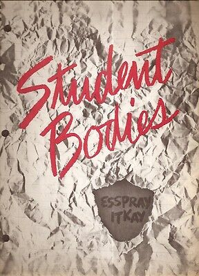 Original Student Bodies Movie Press Kit Paramount Pictures 1981 Comedy Horror