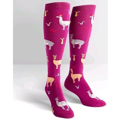 Sock it to me Women's Knee High Socks Llama Drama
