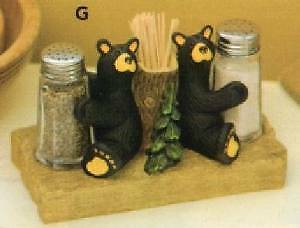 Bearfoots Bears Salt & Pepper Set with Toothpick Holder 30150059
