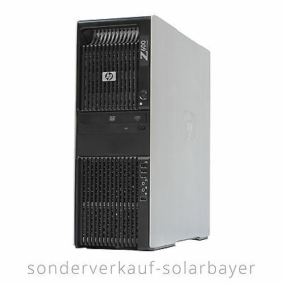 HP Z600 PC Workstation 2x Xeon Quad Core E5506 Ram 4GB HDD 250GB Office Graphic