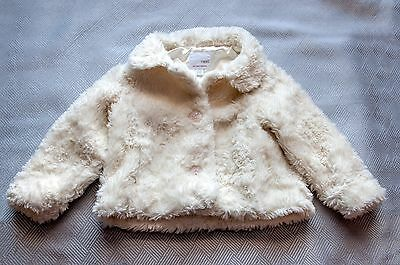 Next Girls coat 2-3 years White Warm