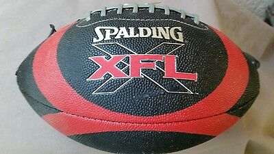 2000 Spalding XFL Football Official Full Size New in Box Red & Black WWF WWE
