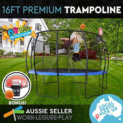 16ft 488cm Trampoline Round Free Basketball Safety Net Cover PERTH PICK UP ONLY