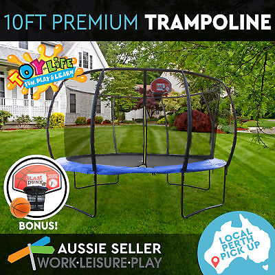 10ft 305cm Trampoline Round Free Basketball Safety Net Cover PERTH PICK UP ONLY