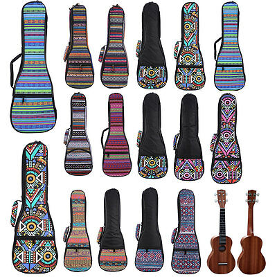 "21"" 23"" 26"" Soft Pad Cotton Gig Hand Portable Padded Bag Case Cover for Ukulele"