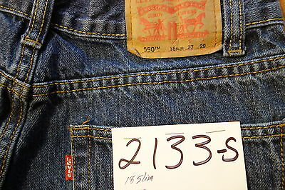 "#2133s Levi's 550 Relaxed Fit boy jeans size 18 Slim (W 27""x28""L)"