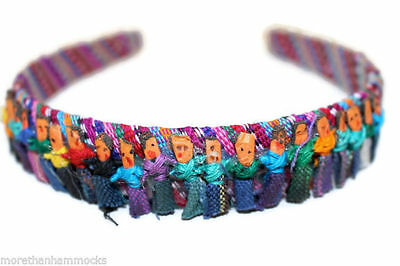 Guatemalan Worry Dolls In A Headband Very Soft And Very Cute